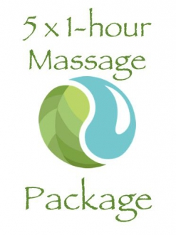 5 x 1 Hour Massage Package